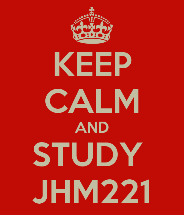 KEEP CALM AND STUDY  JHM221