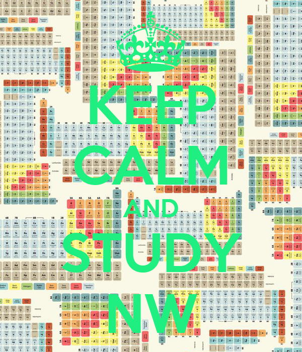 KEEP CALM AND STUDY NW