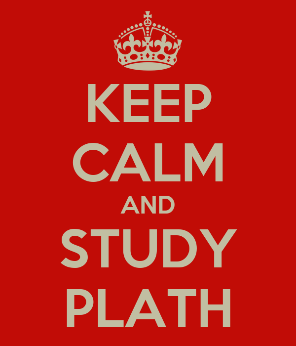 KEEP CALM AND STUDY PLATH