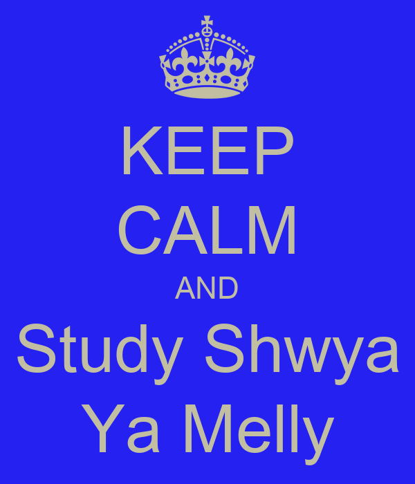 KEEP CALM AND Study Shwya Ya Melly