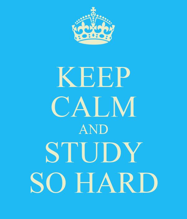 KEEP CALM AND STUDY SO HARD