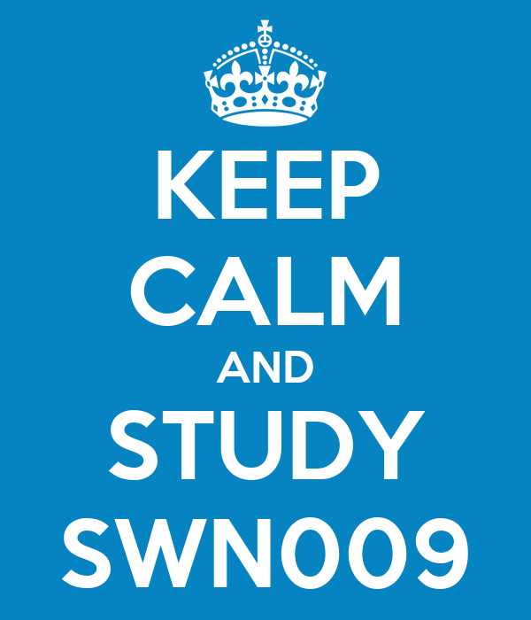 KEEP CALM AND STUDY SWN009