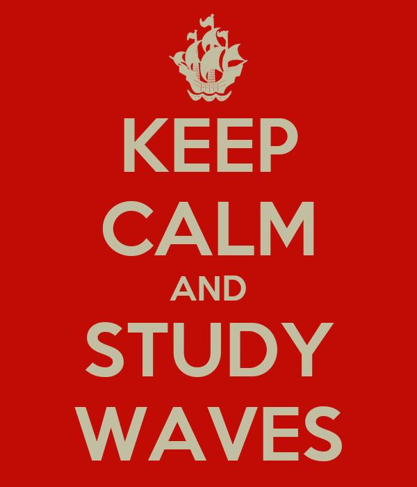 KEEP CALM AND STUDY WAVES