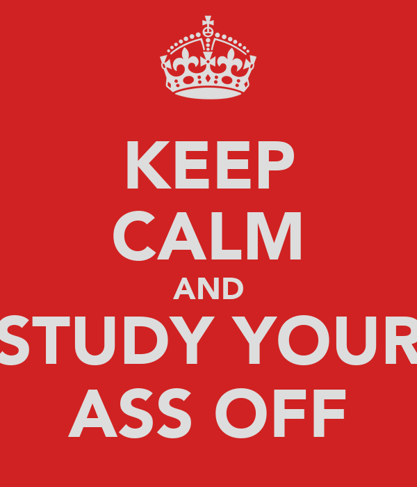 KEEP CALM AND STUDY YOUR ASS OFF