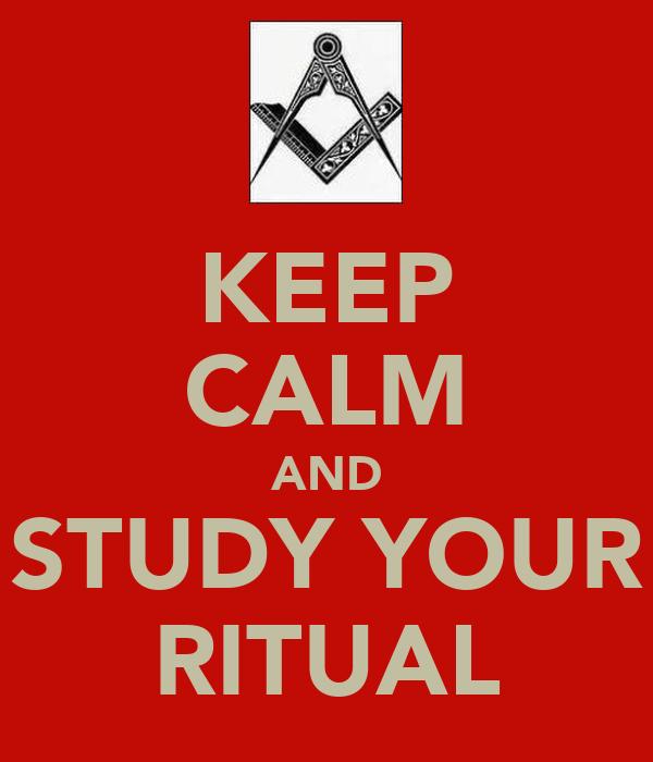 KEEP CALM AND STUDY YOUR RITUAL