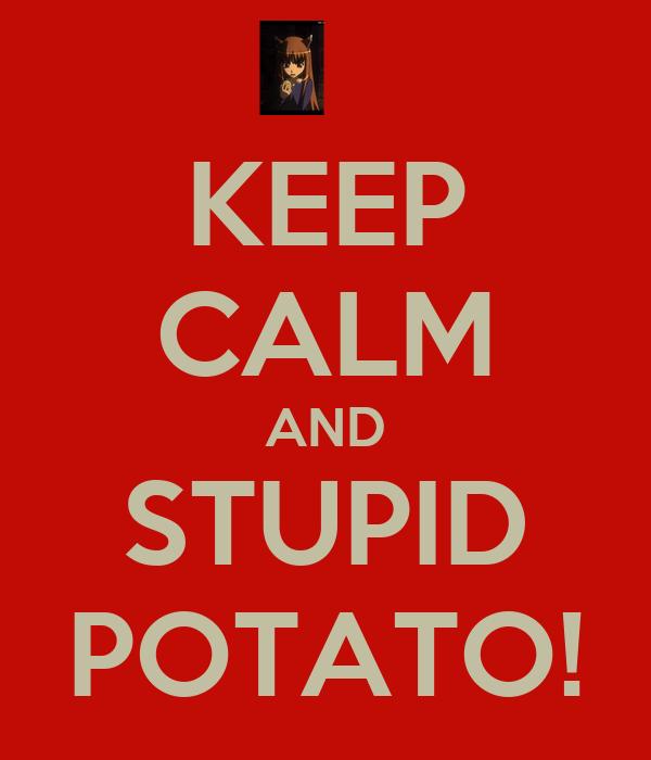 KEEP CALM AND STUPID POTATO!