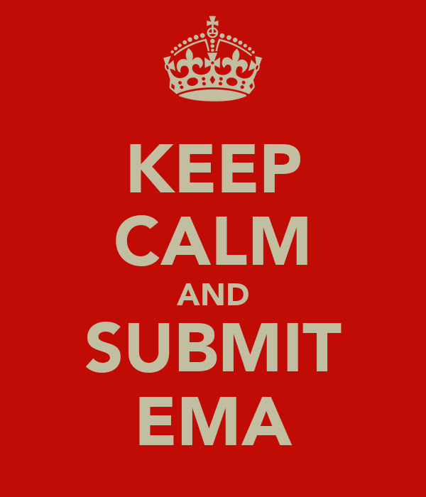 KEEP CALM AND SUBMIT EMA