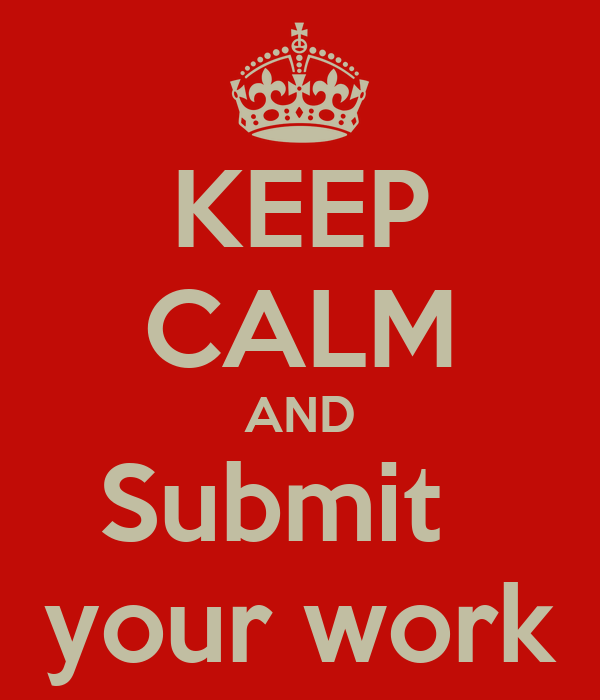 KEEP CALM AND Submit   your work