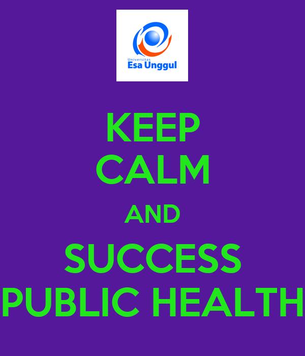 KEEP CALM AND SUCCESS PUBLIC HEALTH
