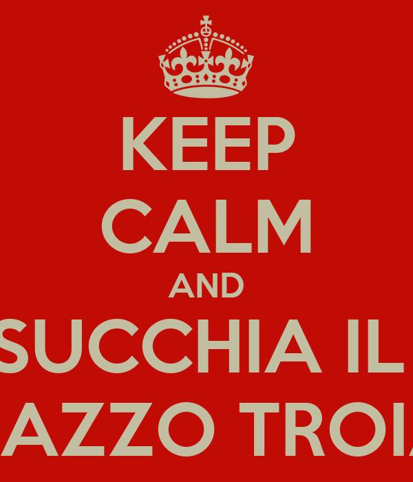 KEEP CALM AND SUCCHIA IL  CAZZO TROIA