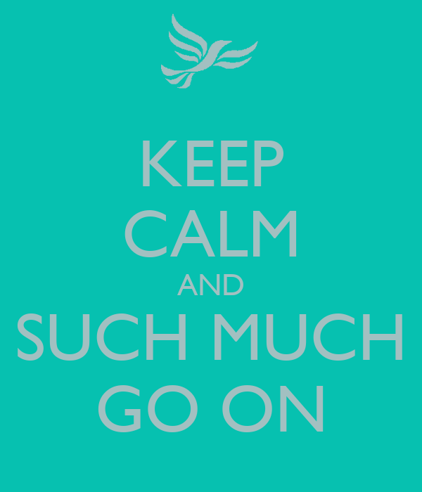 KEEP CALM AND SUCH MUCH GO ON