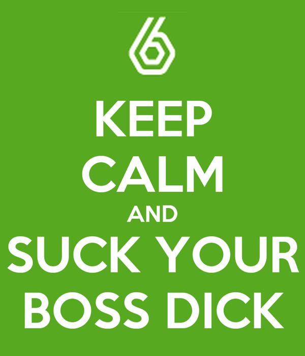 Sucking the bosses dick