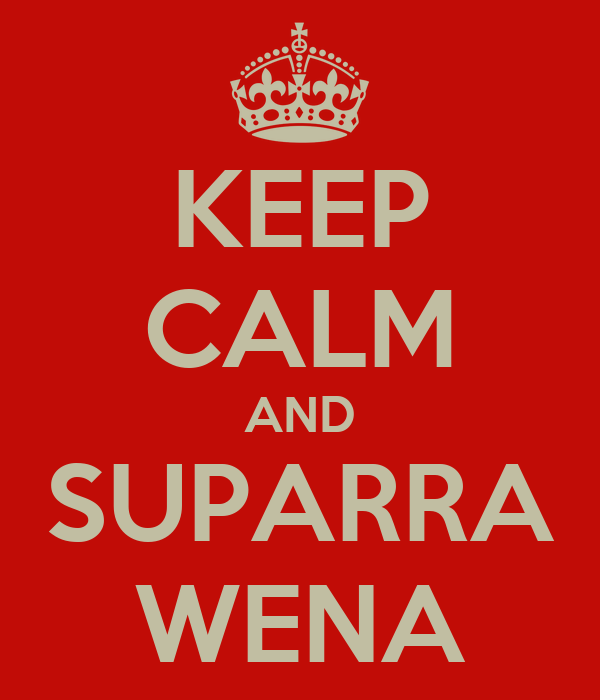KEEP CALM AND SUPARRA WENA