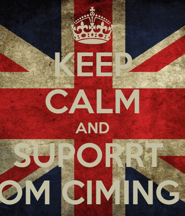 KEEP CALM AND SUPORRT  OM CIMING