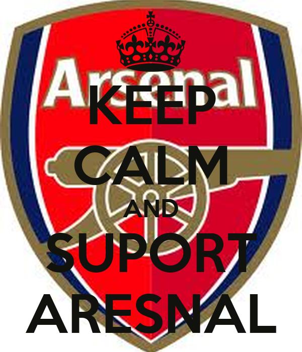 KEEP CALM AND SUPORT ARESNAL