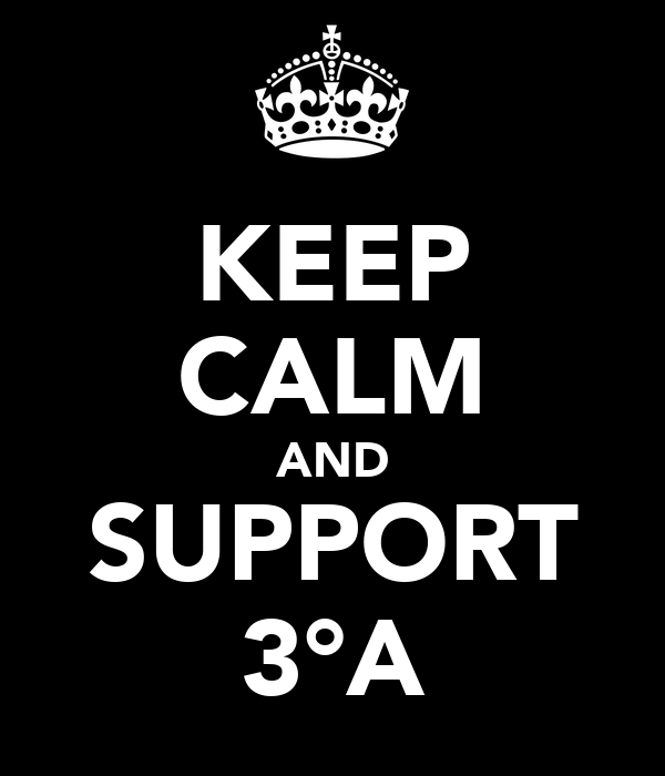 KEEP CALM AND SUPPORT 3°A