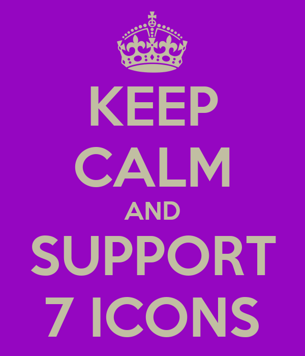 KEEP CALM AND SUPPORT 7 ICONS