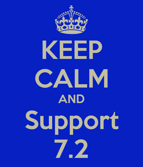 KEEP CALM AND Support 7.2