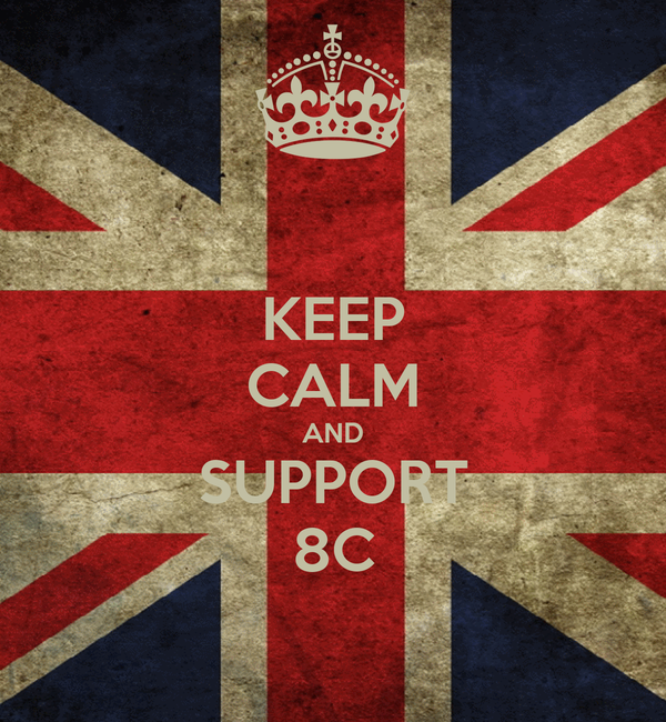 KEEP CALM AND SUPPORT 8C