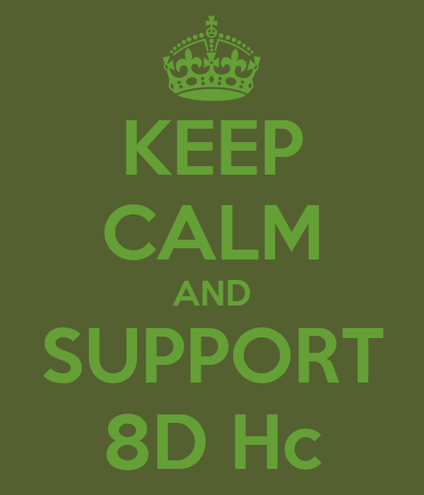 KEEP CALM AND SUPPORT 8D Hc