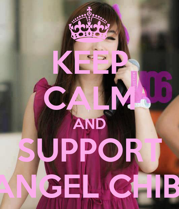 KEEP CALM AND SUPPORT ANGEL CHIBI