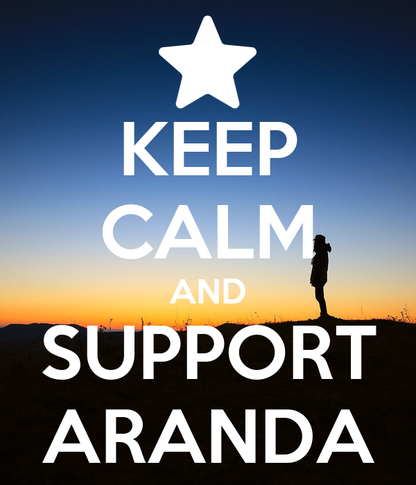 KEEP CALM AND SUPPORT ARANDA