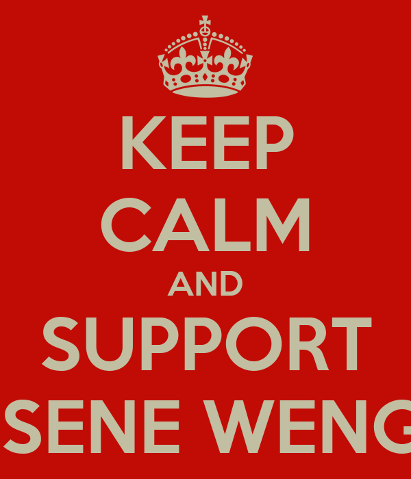 KEEP CALM AND SUPPORT ARSENE WENGER