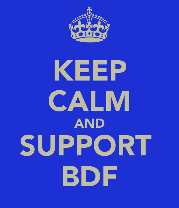 KEEP CALM AND SUPPORT  BDF