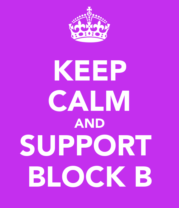 KEEP CALM AND SUPPORT  BLOCK B
