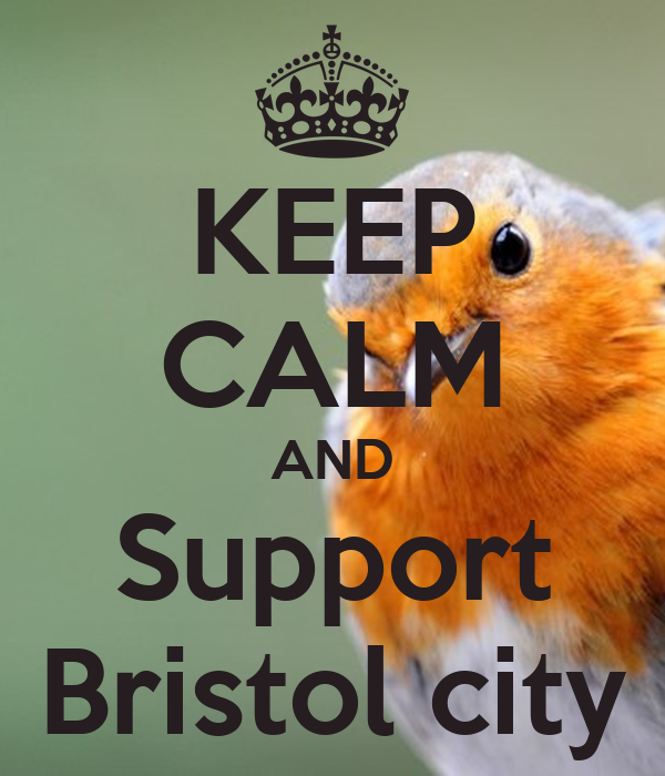 KEEP CALM AND Support Bristol city
