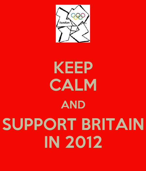 KEEP CALM AND SUPPORT BRITAIN IN 2012