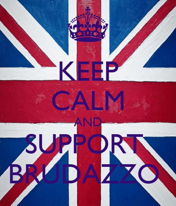 KEEP CALM AND SUPPORT  BRUDAZZO