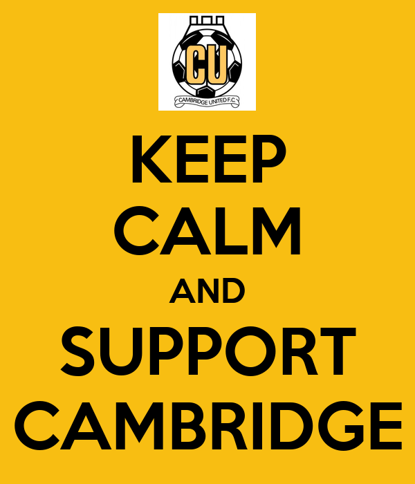 KEEP CALM AND SUPPORT CAMBRIDGE