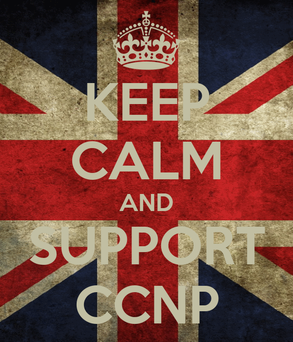 KEEP CALM AND SUPPORT CCNP