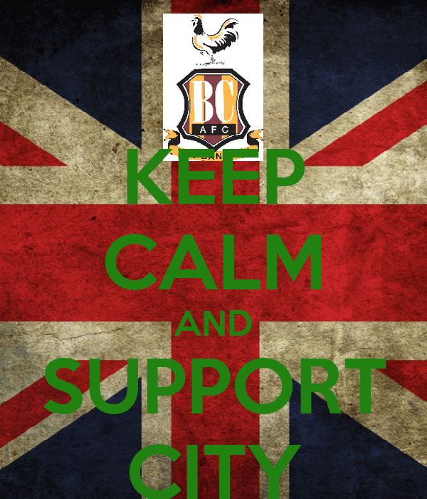KEEP CALM AND SUPPORT CITY