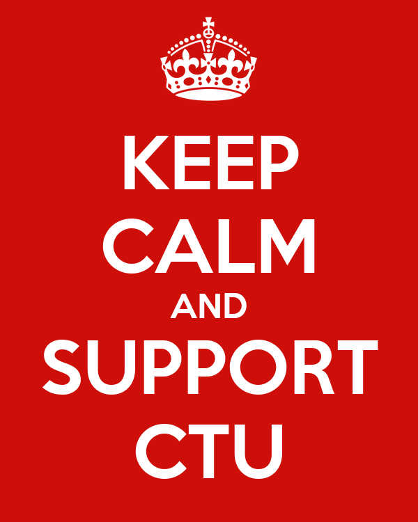 KEEP CALM AND SUPPORT CTU