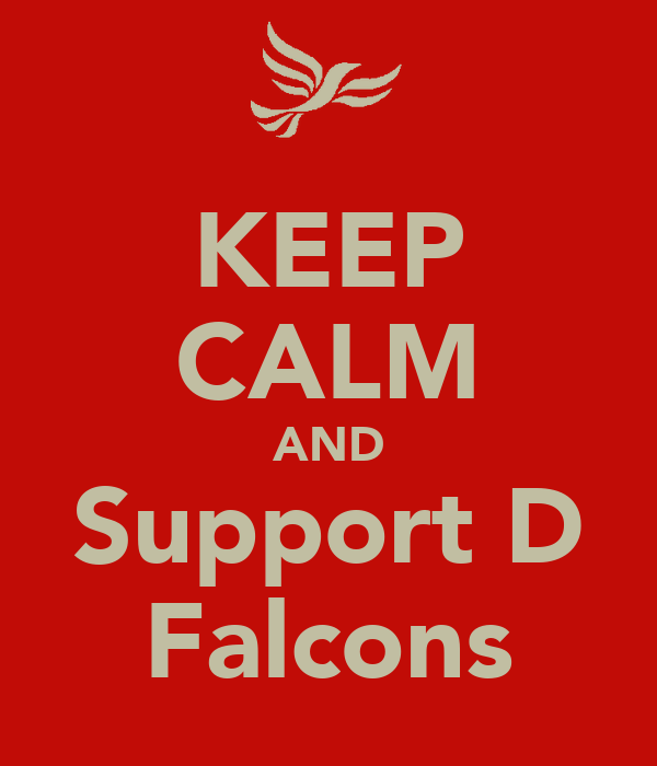 KEEP CALM AND Support D Falcons