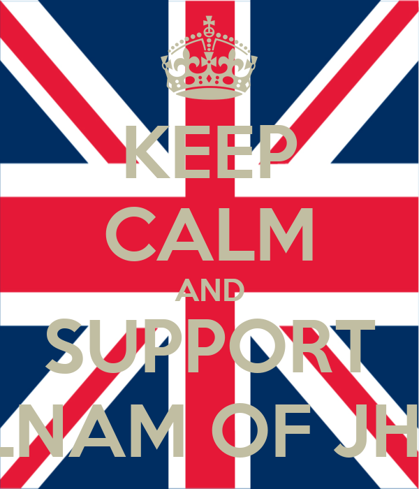 KEEP CALM AND SUPPORT DELNAM OF JHS10