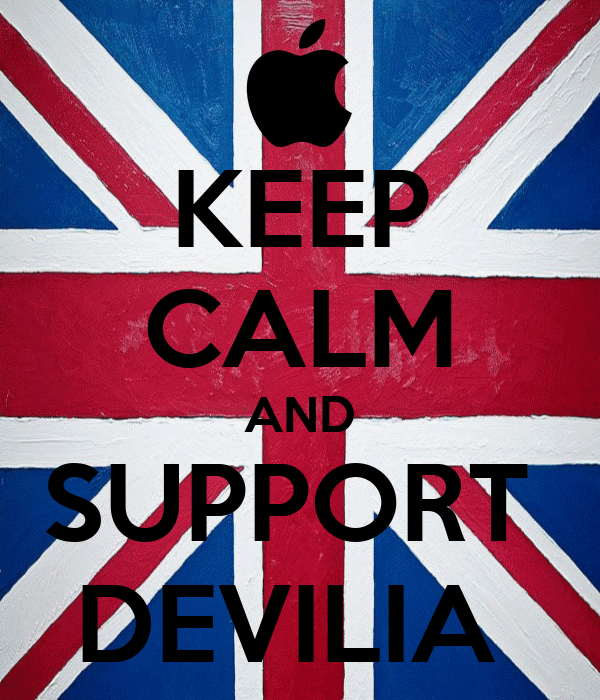 KEEP CALM AND SUPPORT  DEVILIA