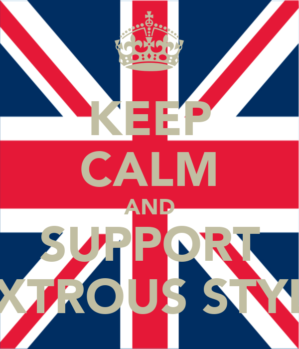 KEEP CALM AND SUPPORT DEXTROUS STYLEZ