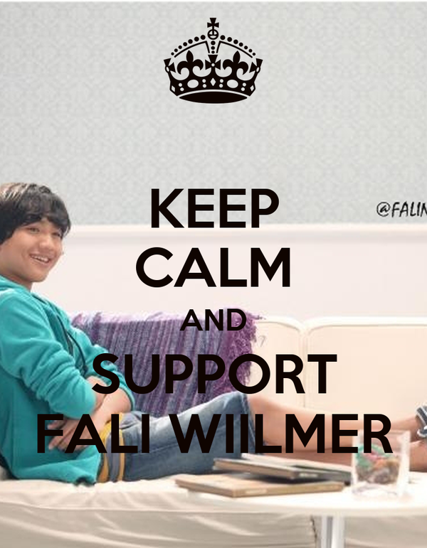 KEEP CALM AND SUPPORT FALI WIILMER