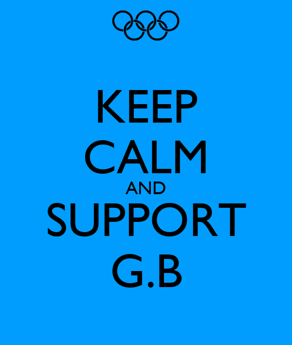 KEEP CALM AND SUPPORT G.B