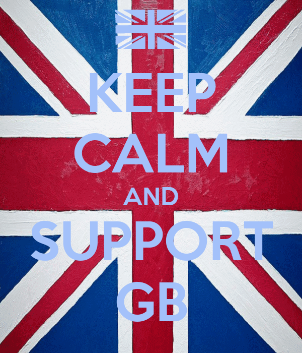 KEEP CALM AND SUPPORT GB