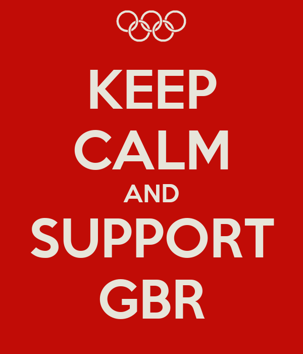 KEEP CALM AND SUPPORT GBR