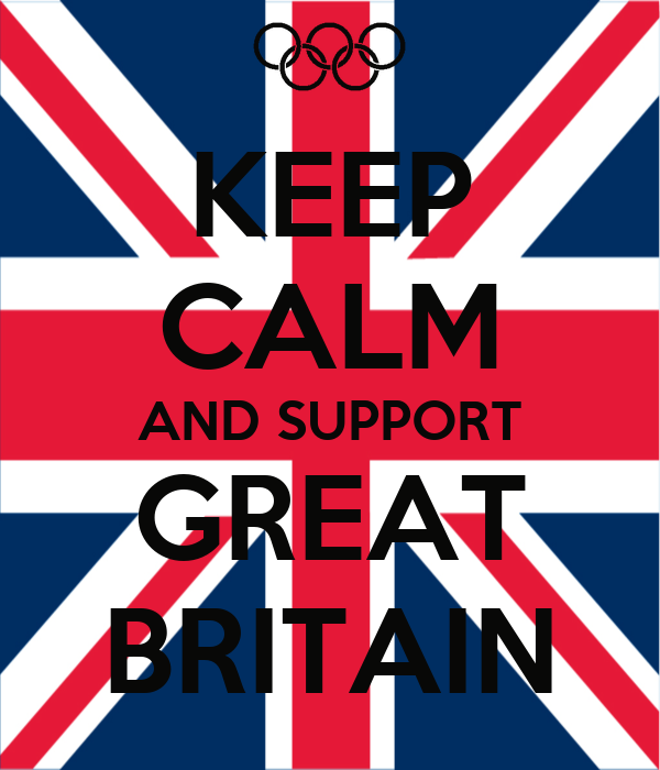 KEEP CALM AND SUPPORT GREAT BRITAIN