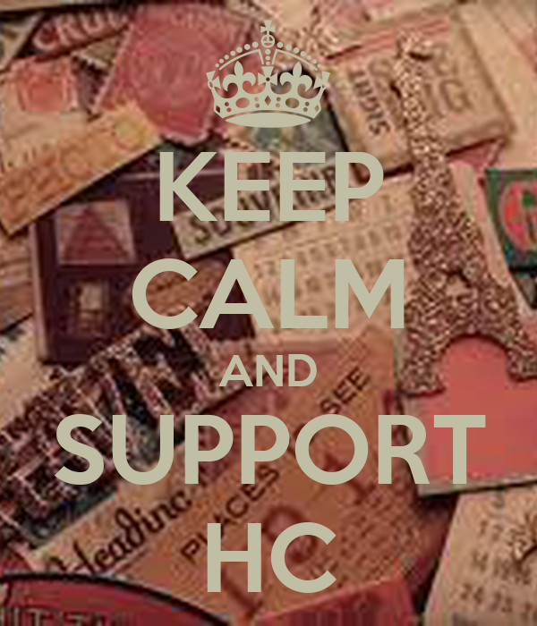 KEEP CALM AND SUPPORT HC