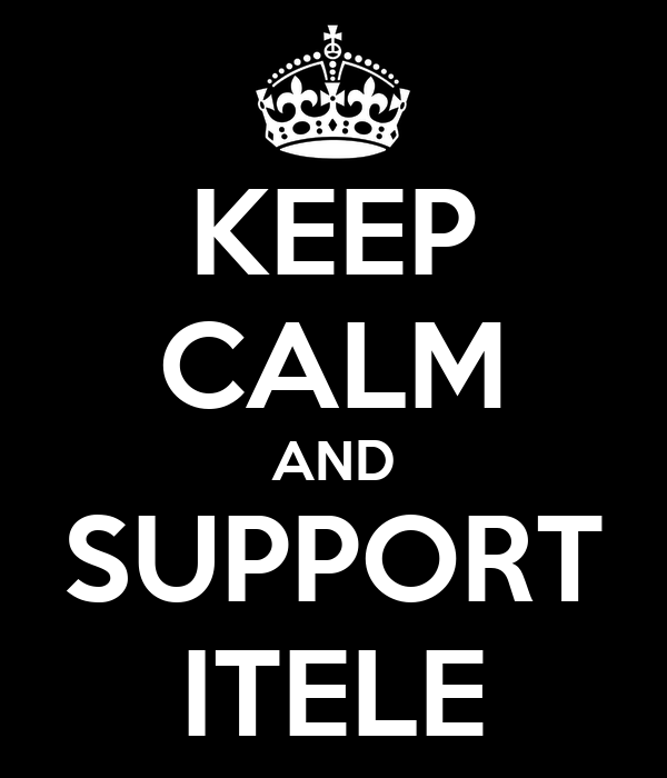 KEEP CALM AND SUPPORT ITELE