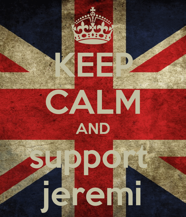 KEEP CALM AND support  jeremi