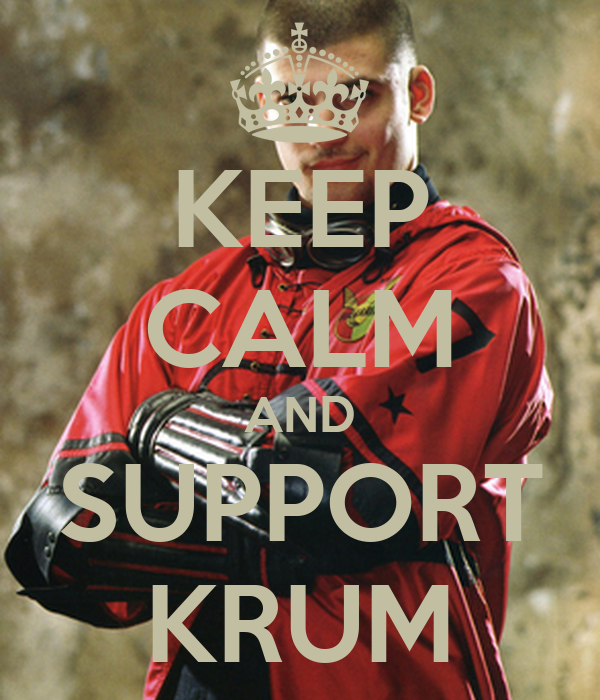 KEEP CALM AND SUPPORT KRUM