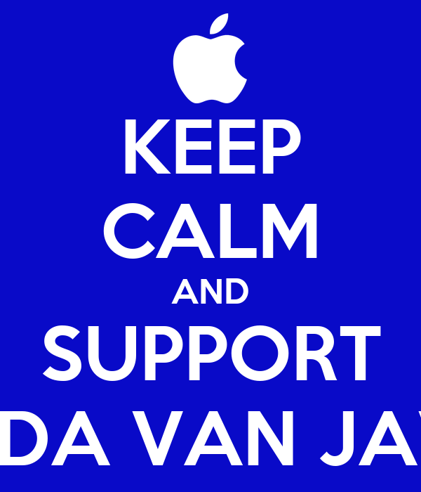 KEEP CALM AND SUPPORT LADA VAN JAVA